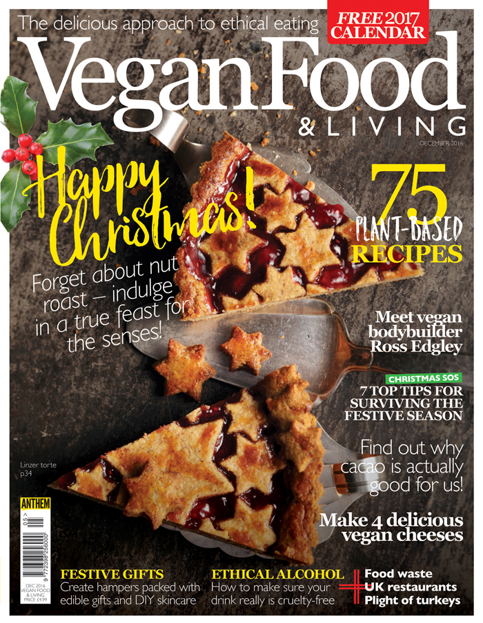 Vegan Food & Living December on sale now!