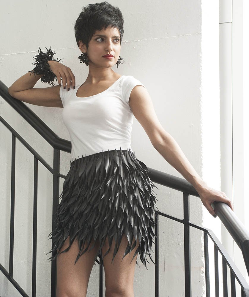 Meet the lady creating funky fashion accessories from upcycled tyres