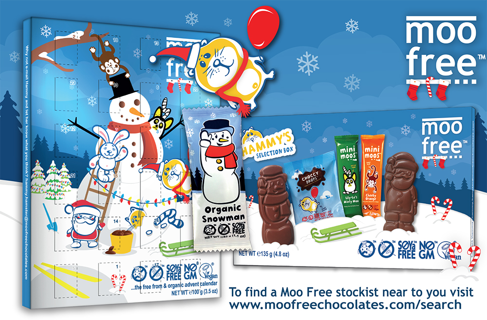 Christmas is coming with Moo Free's vegan advent calendar!