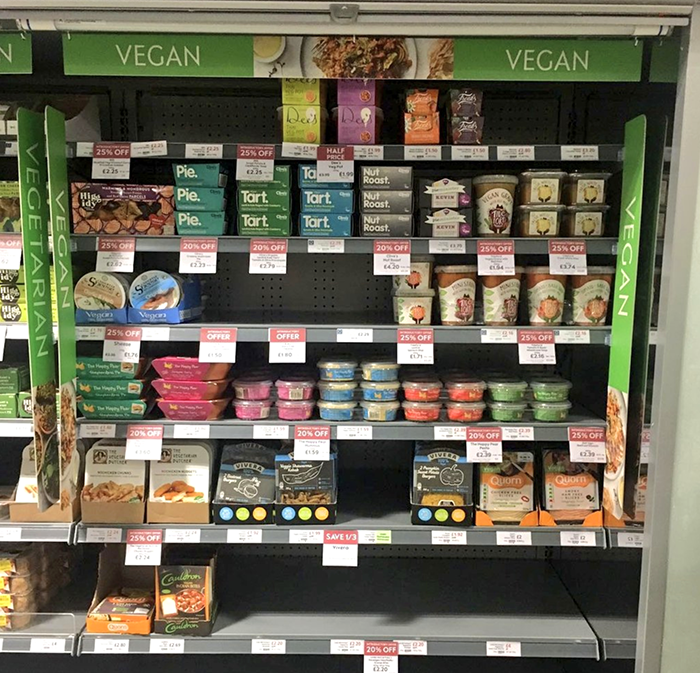 waitrose vegan section