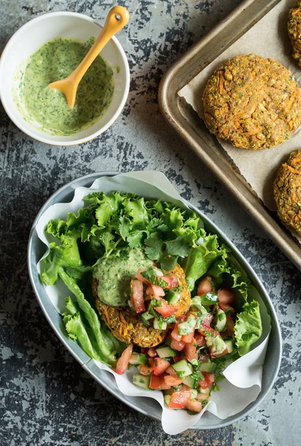 moroccan yam vegan burger