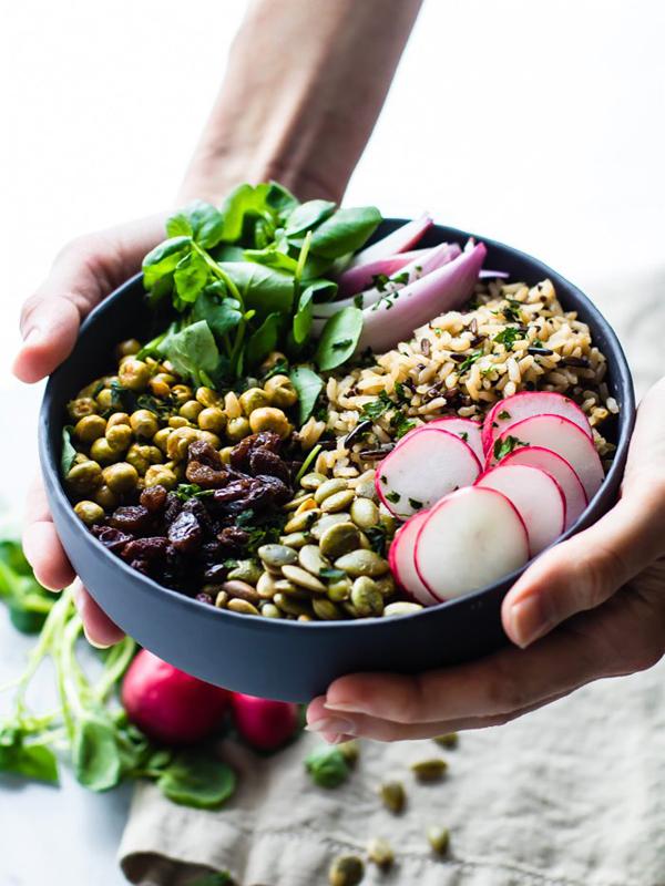 garden veggie Buddha bowl