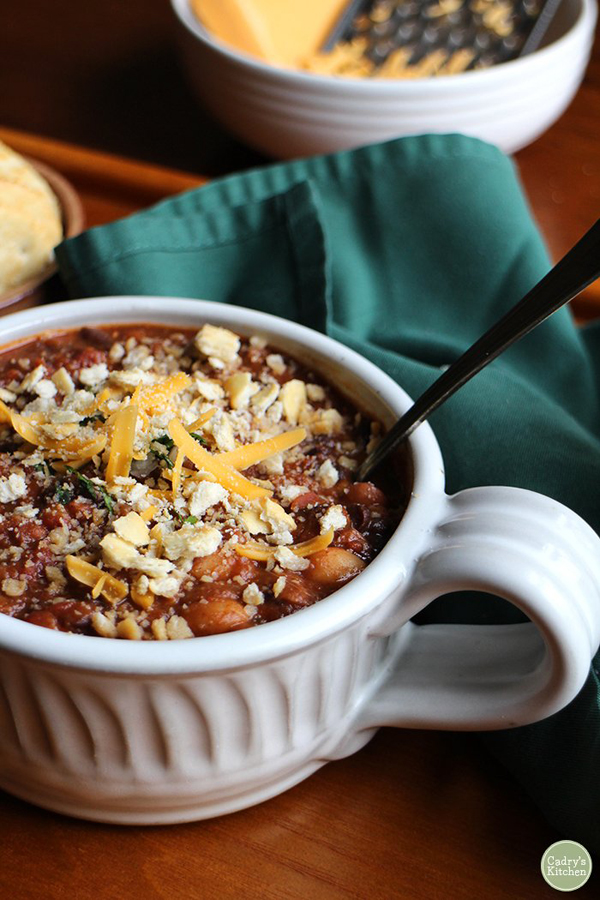 bean chili one-pot meal