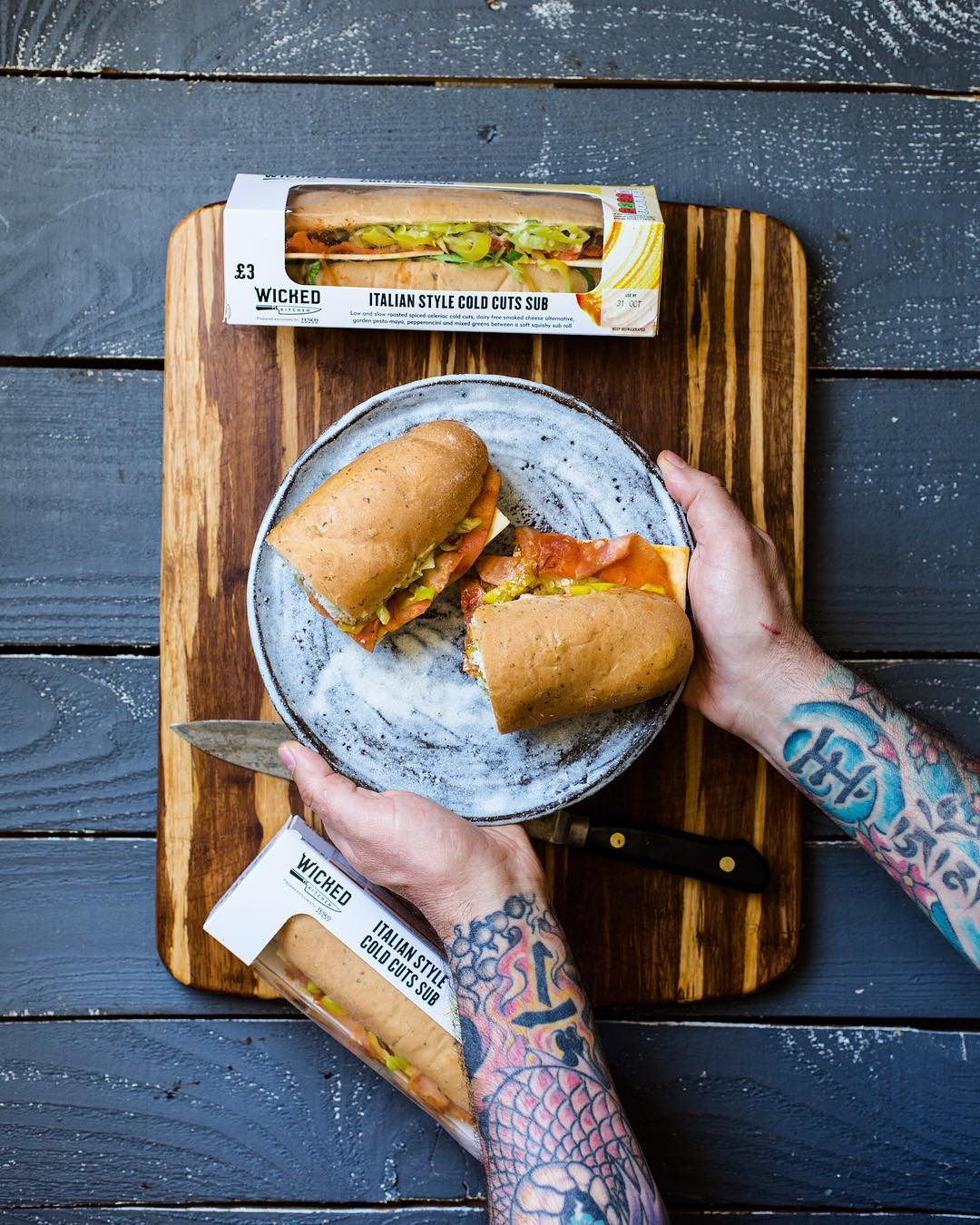 wicked kitchen cold cut sandwiches