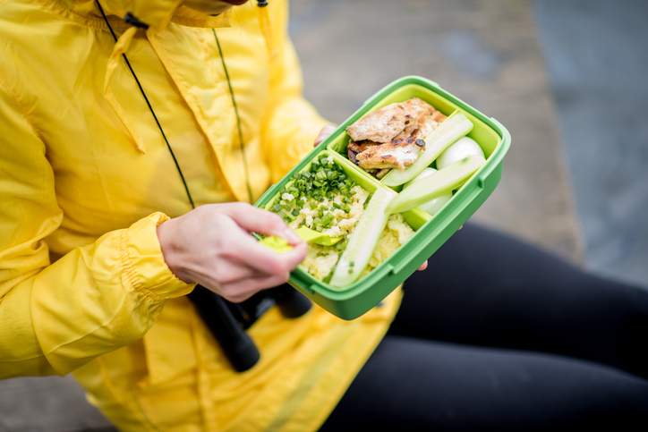 Environmentally-friendly packed lunch
