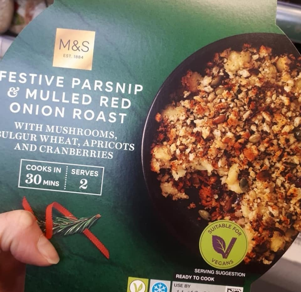 Marks & Spencer Festive Parsnip & Mulled Red Onion Roast