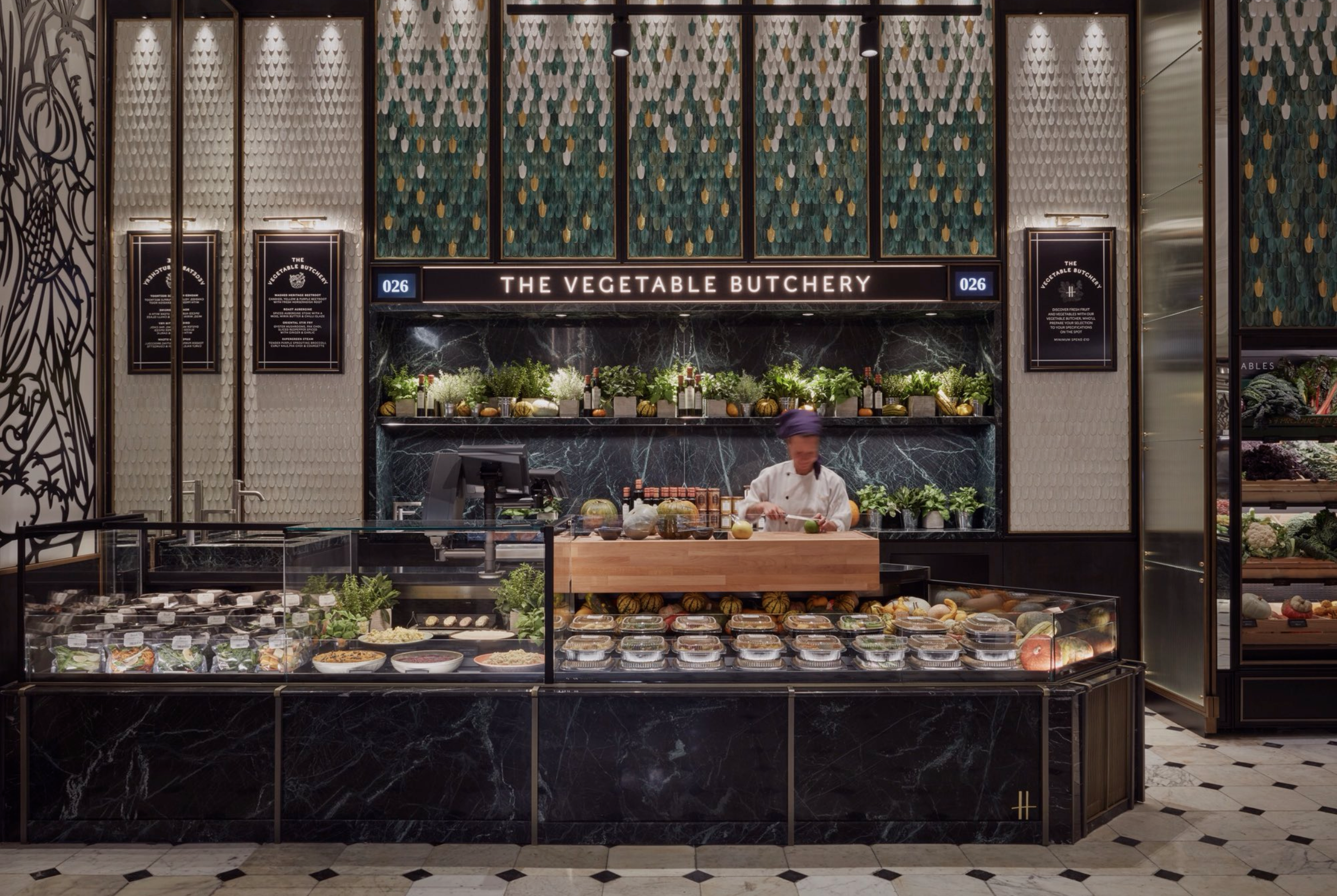 harrods vegetable butchers
