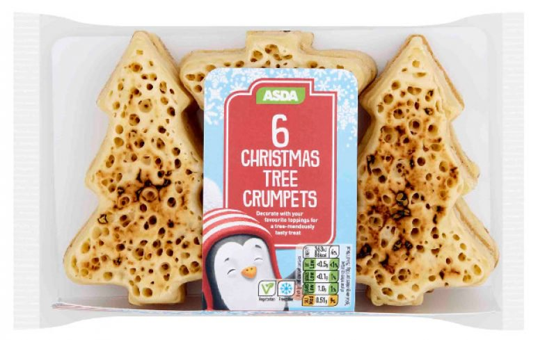 ASDA Christmas Tree Crumpets