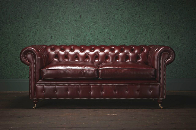 British Sofa Brand Releases Vegan Faux Leather Chesterfield Sofa Range