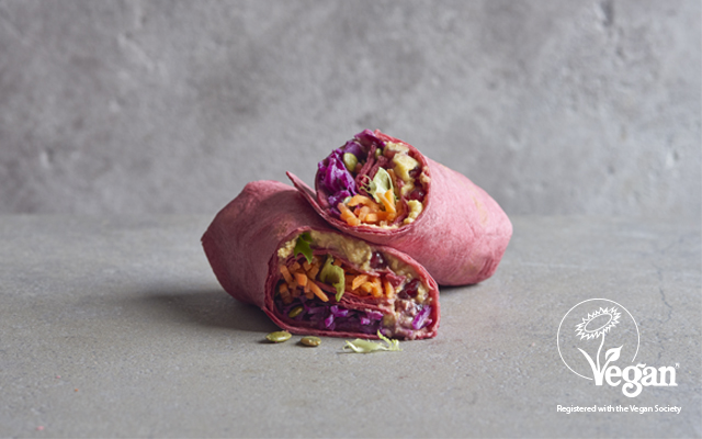 virgin trains vegan wrap