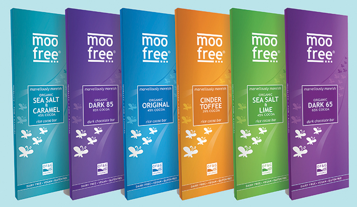Moo Free launches new range of premium vegan chocolate bars for grown ups