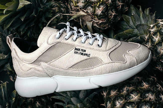 pineapple leather trainers
