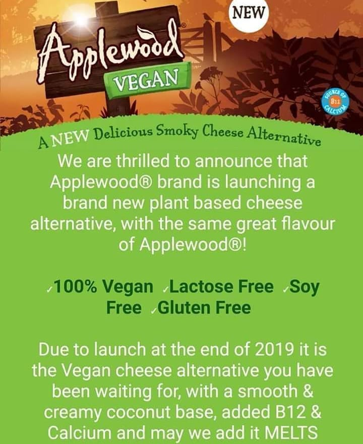 when is applewood vegan cheese launching