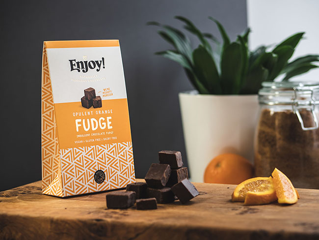 A new range of vegan chocolates, caramels and fudges has launched in the UK