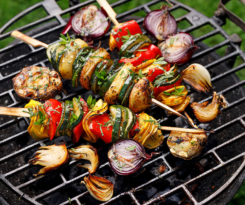 Simple vegetable skewers are a great option for summer BBQ's