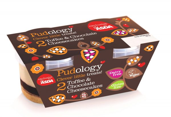 Pudology launch new vegan cheesecake asda chocolate toffee