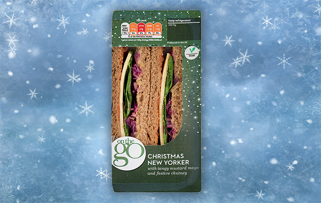 sainsburys vegan Christmas New Yorker sandwich