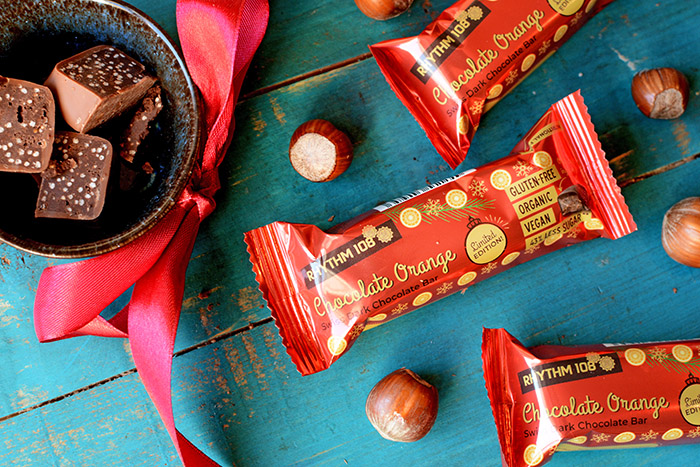 WIN! A month's supply of Rhythm108 vegan Chocolate Orange bars!
