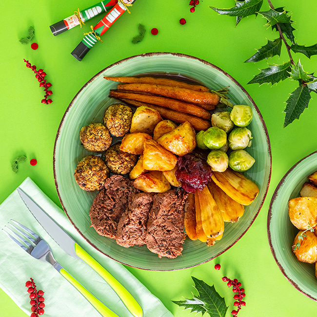 Vegan Jackfruit Christmas Dinner