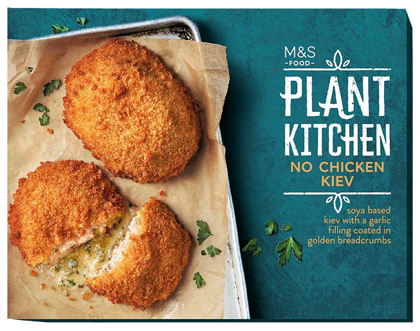 Marks & Spencer to launch over 100 new vegan products including vegan 'chicken' kiev