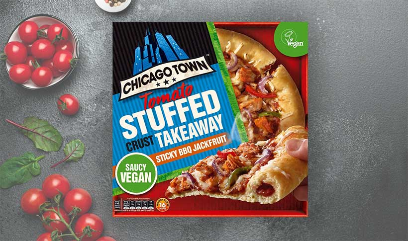Chicago Town is launching its first vegan stuffed-crust pizza in January