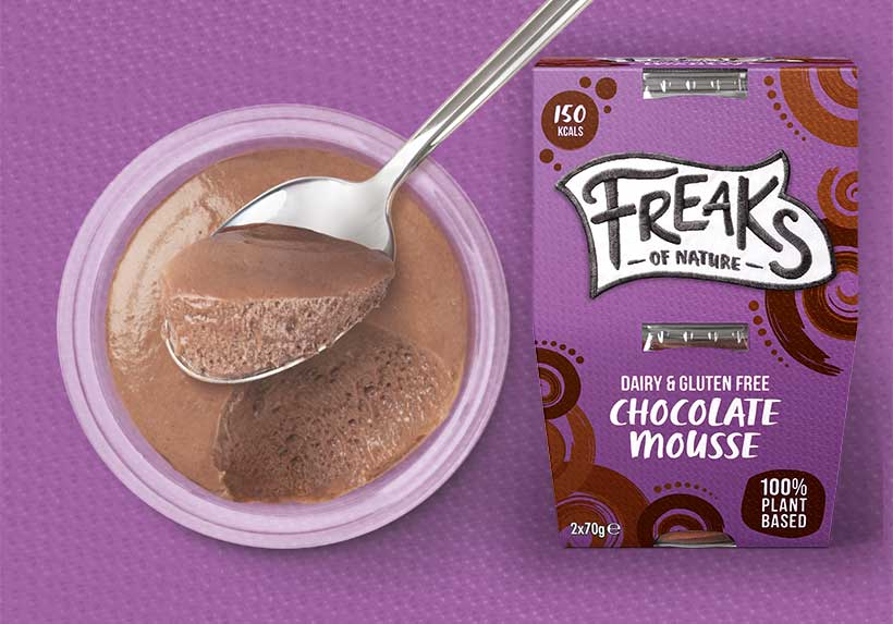 Freaks of Nature to launch the UK's first vegan Belgian chocolate mousse