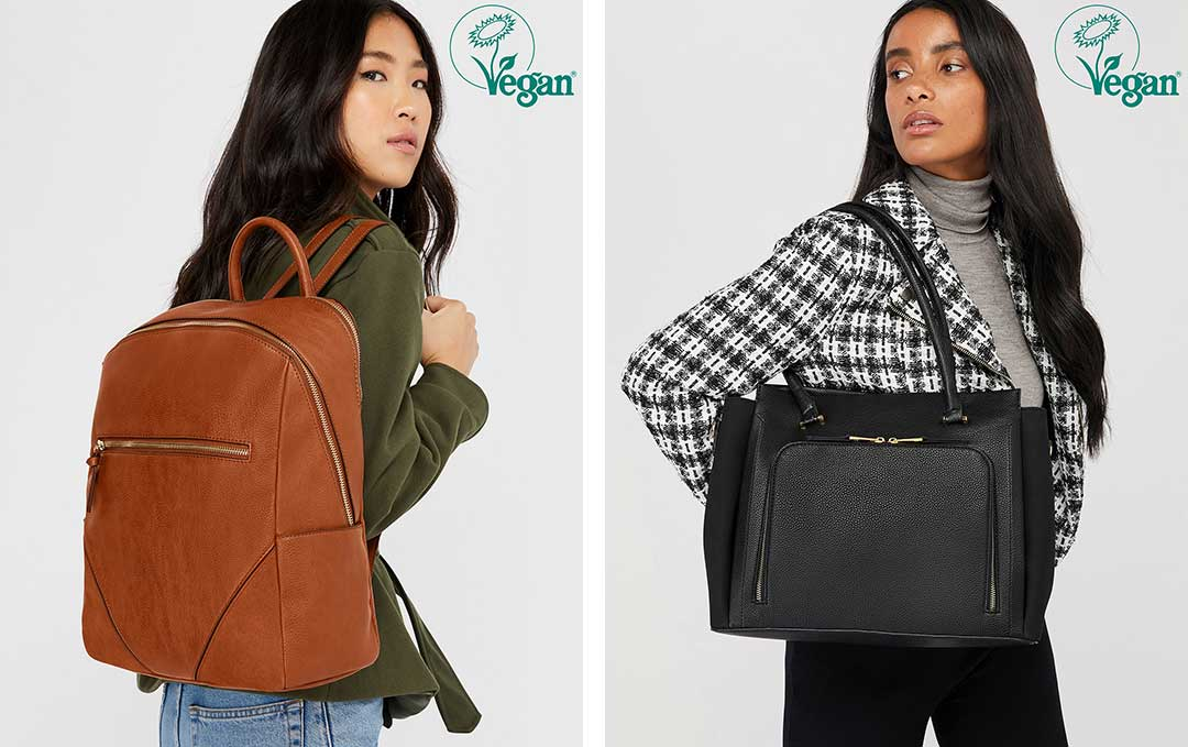 Accessorize has unveiled its first vegan handbag collection