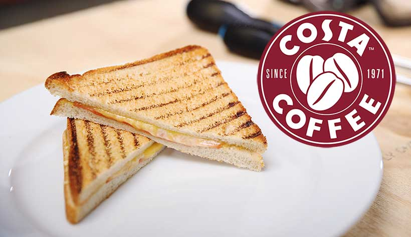 Costa Coffee launches a vegan ham and cheese toastie