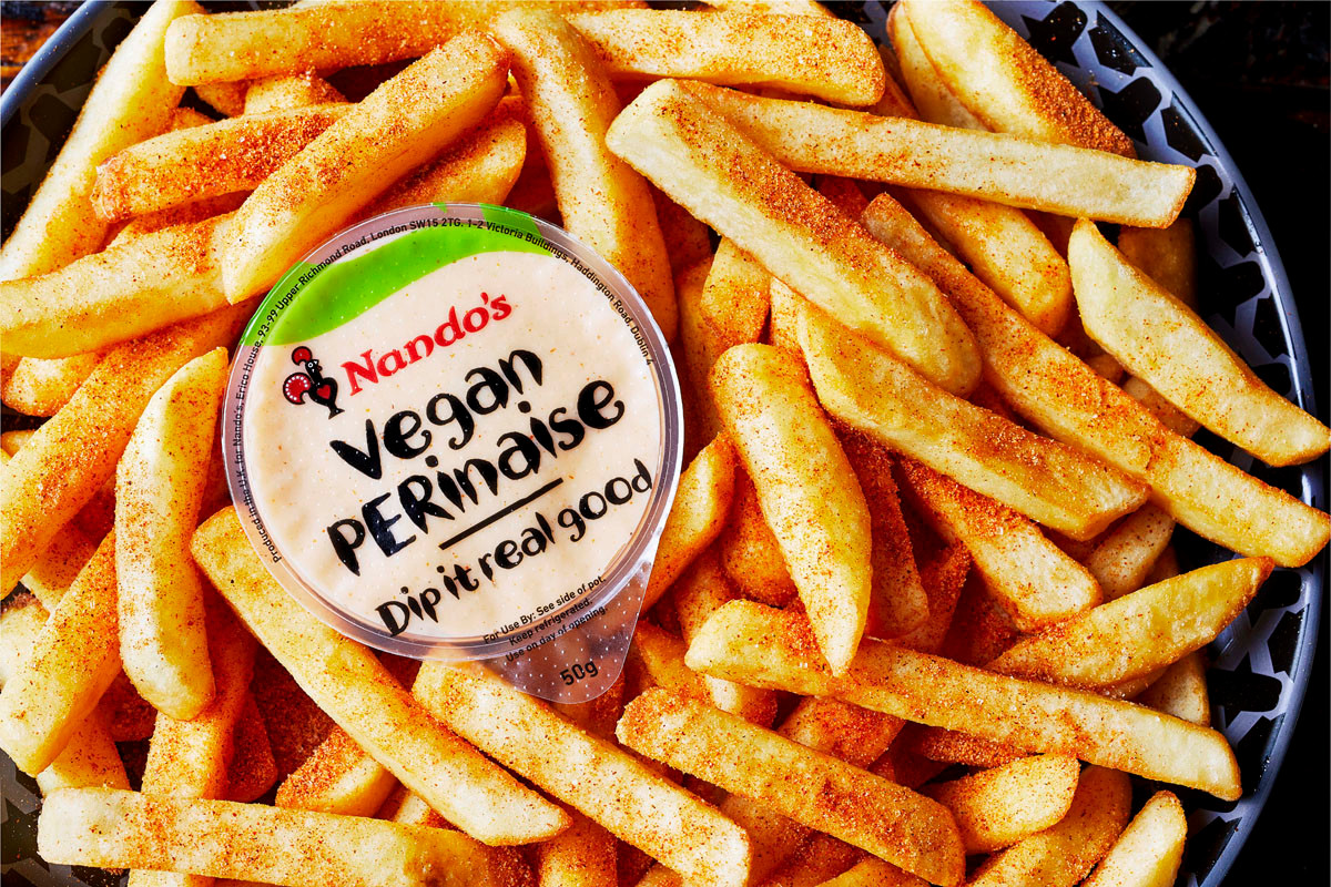 Nando's launches vegan PERinaise in its restaurants and at Tesco stores