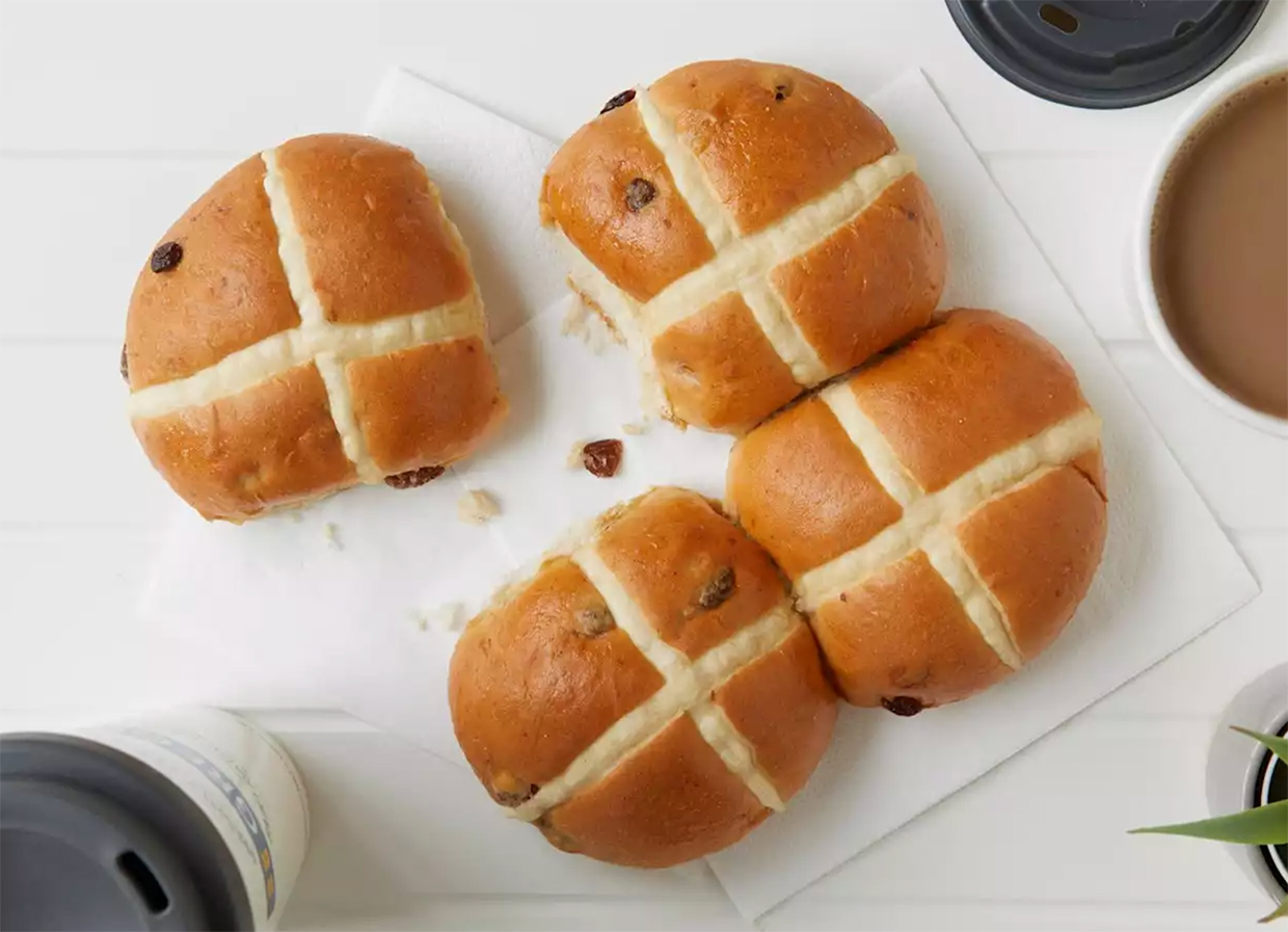 Greggs has launched vegan hot cross buns for Easter