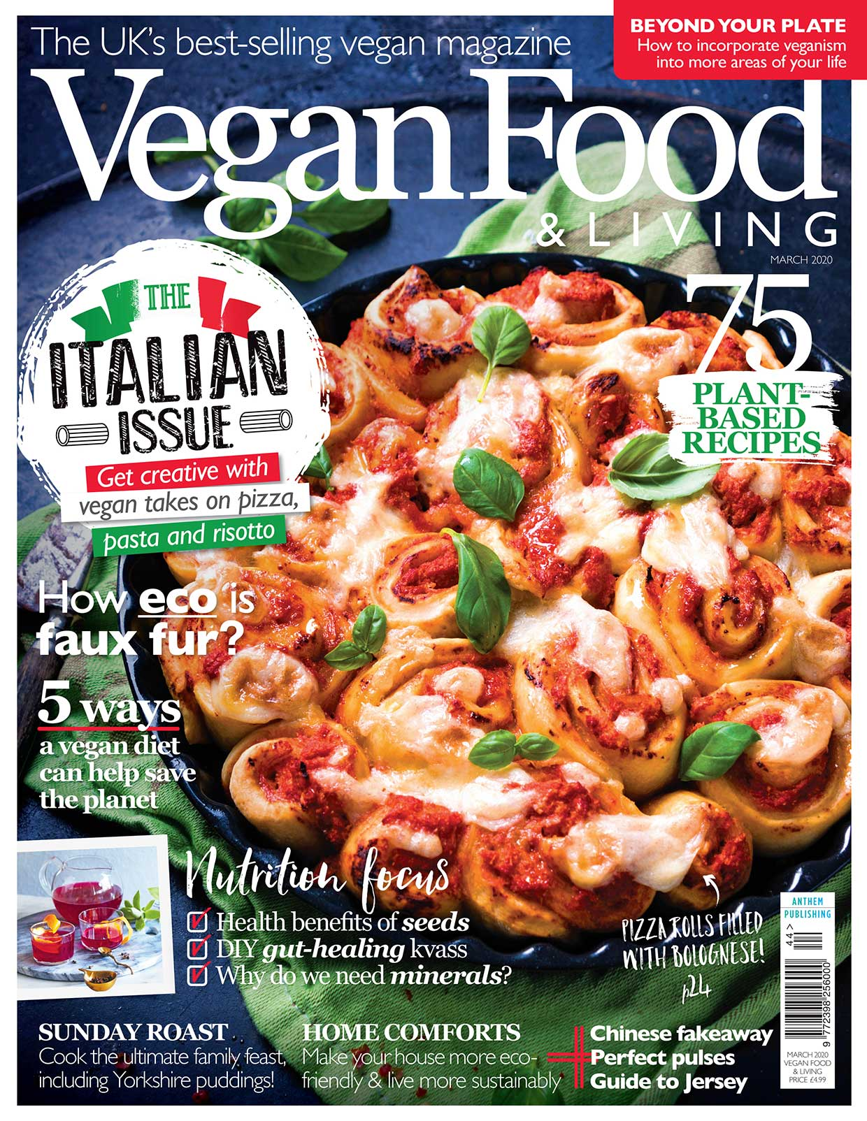 Brush up on your vegan pizza making skills with the Italian issue of Vegan Food & Living