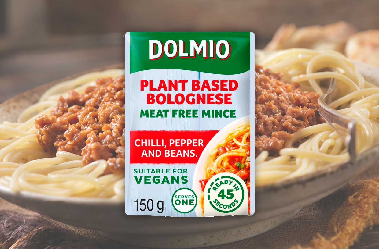 Dolmio launches ready-made vegan bologneses with plant-based mince