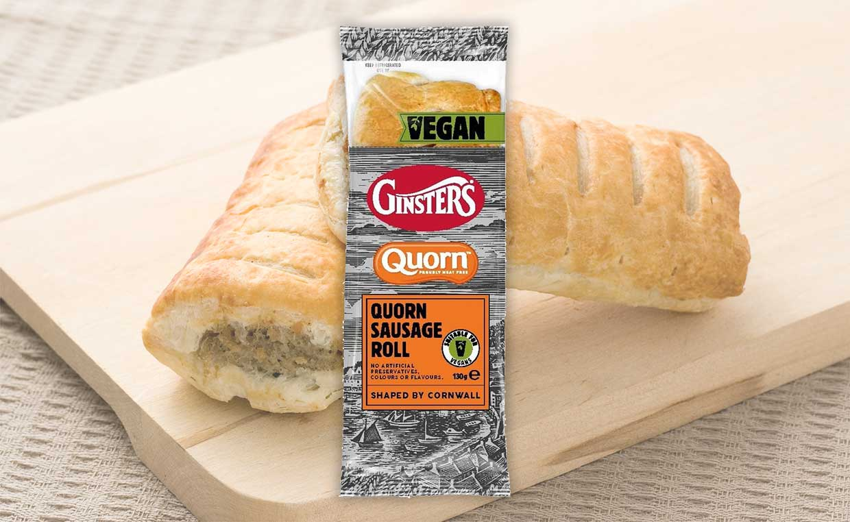 Ginsters and Quorn team up to release a vegan sausage roll