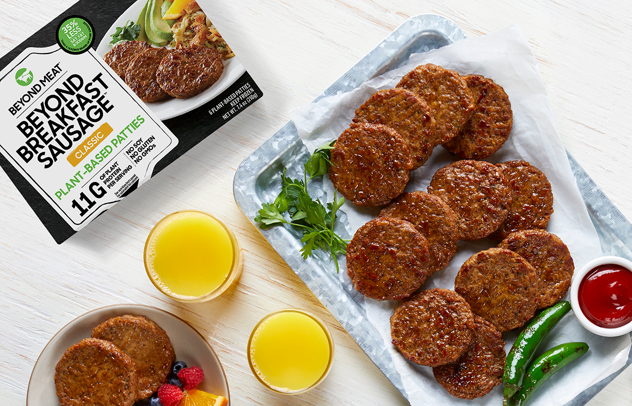 Beyond Meat launches breakfast sausages with more protein than pork sausages