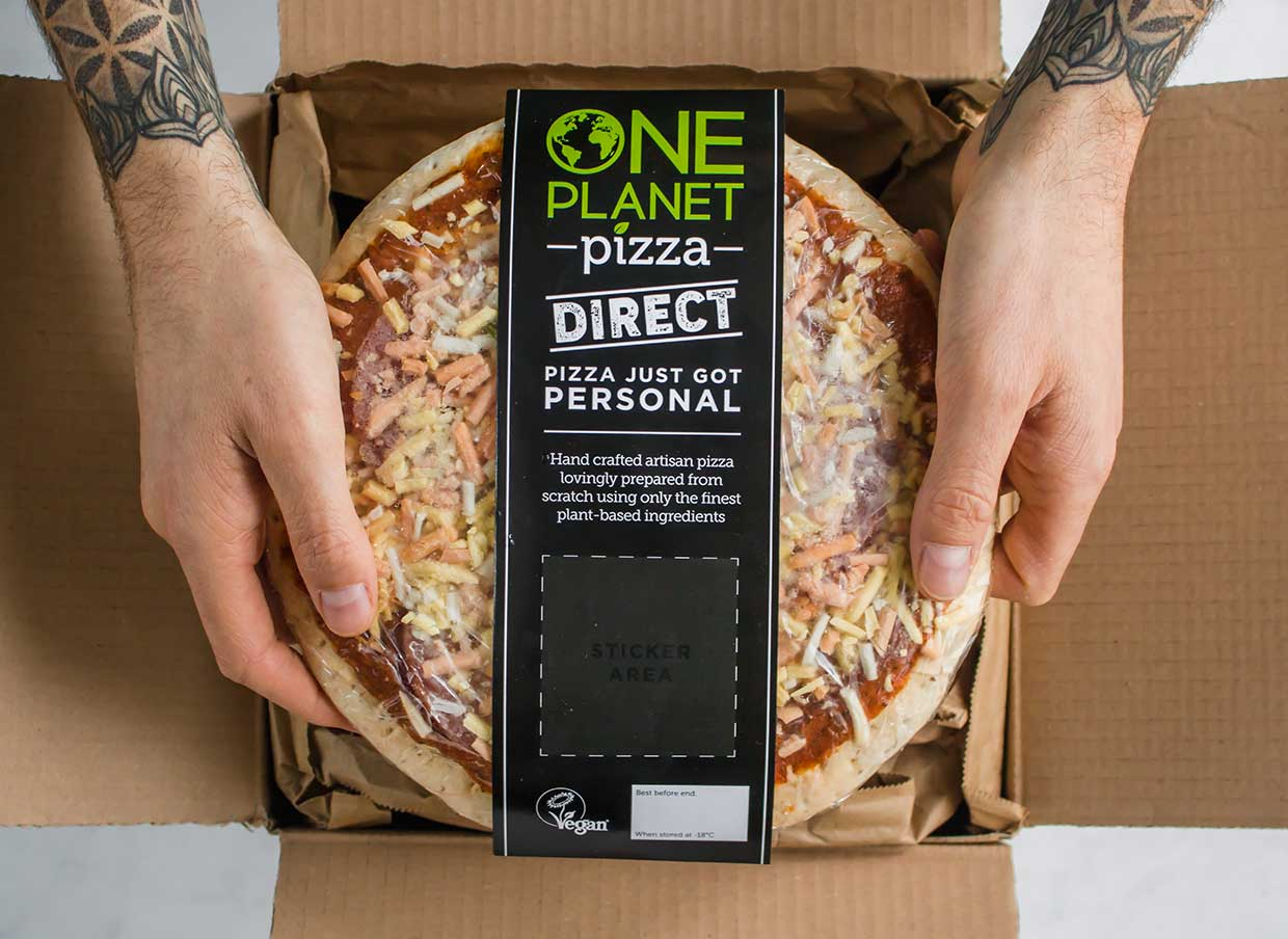 Vegan pizza company One Planet Pizza launches doorstep delivery service