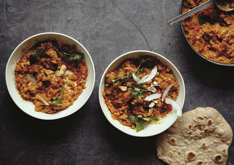 Red Lentil Dahl with Coconut & Lime