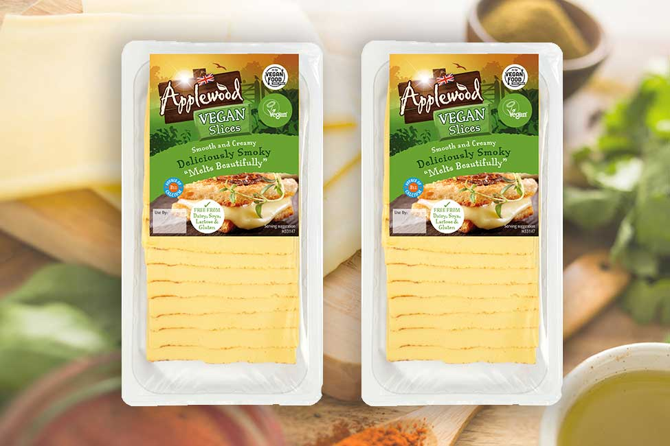 Applewood's smoked vegan cheese is now available in slices!
