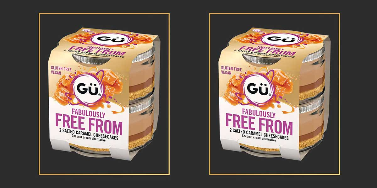 Gü launches vegan salted caramel cheesecakes in its free-from range