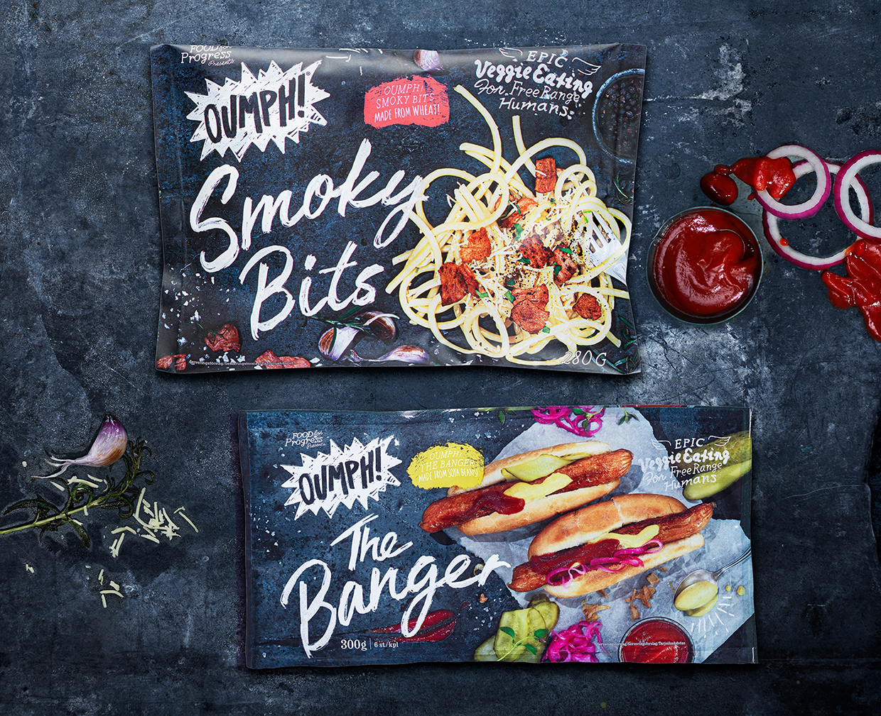 Oumph! launches smoky bacon-style bits and sausages in Sweden