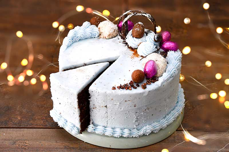 Triple Layer Vegan Easter Chocolate Cake