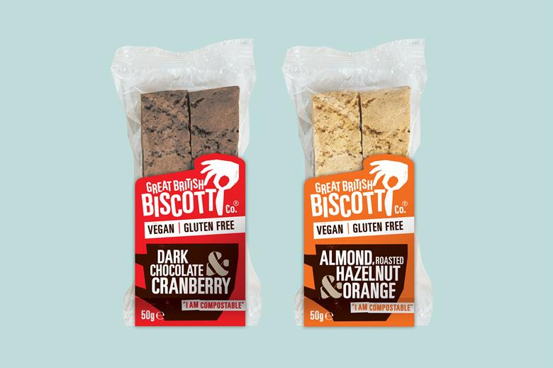 Great British Biscotti Co to launch vegan biscotti in compostable packaging