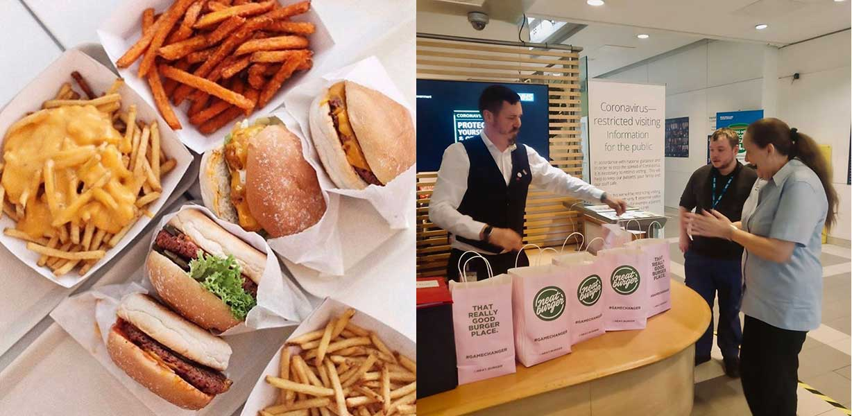 Lewis Hamilton's vegan burger chain is giving free vegan meals to NHS workers