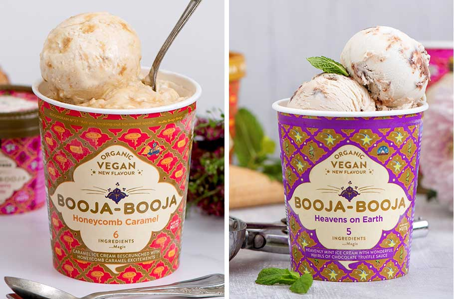 Booja-Booja launches new vegan honeycomb and mint chocolate ice creams