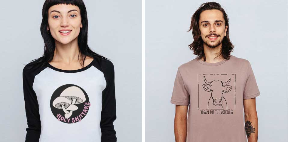 Discover our range of ethically sourced vegan clothing