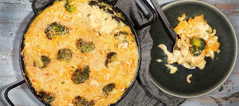 Vegan Mac and Cheese with Broccoli