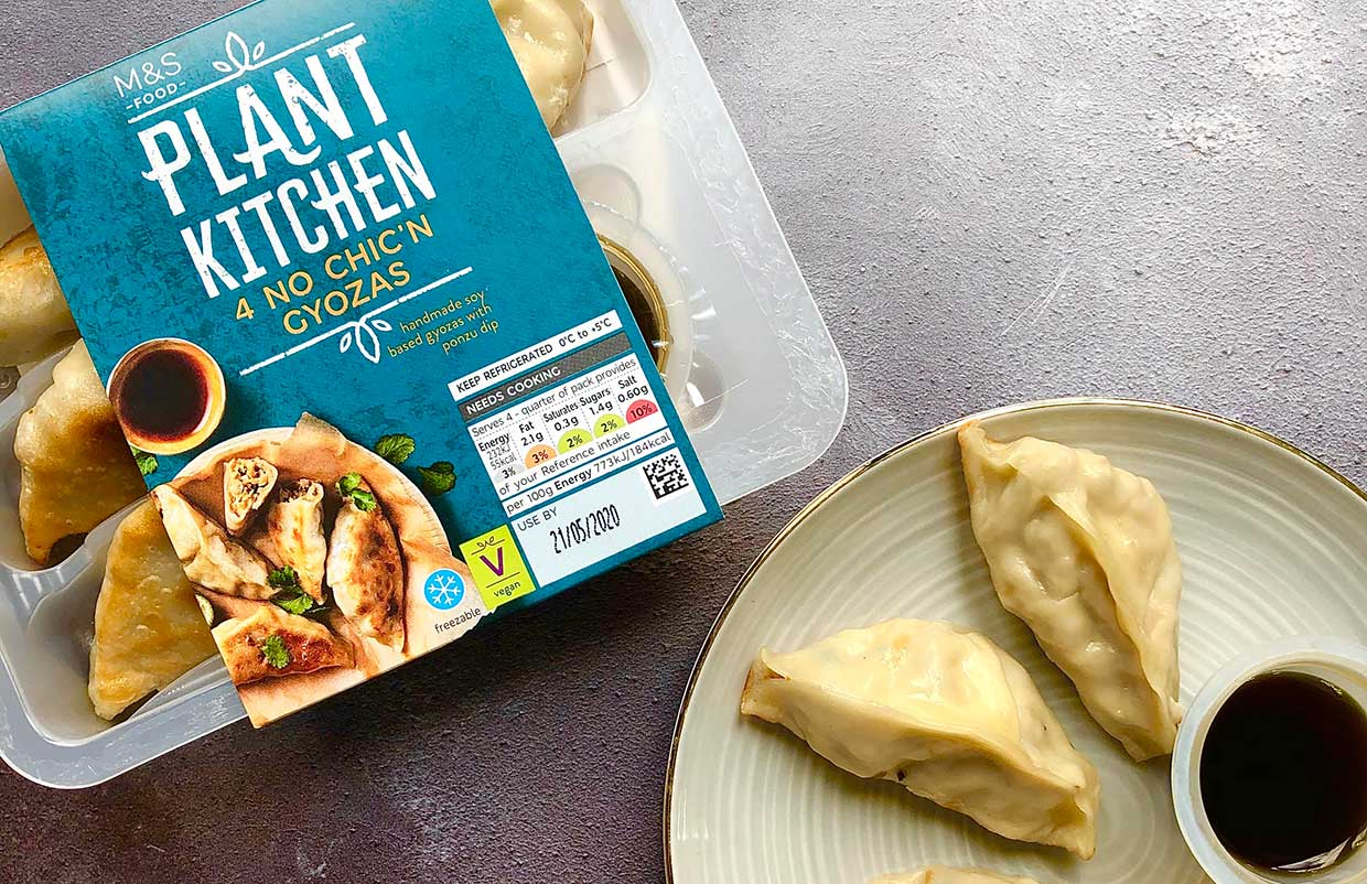 Marks & Spencer launches No Chick'n Gyoza with ponzu dip