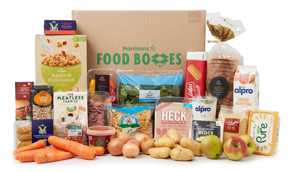 Morrisons launches vegan food box filled with everyday essentials