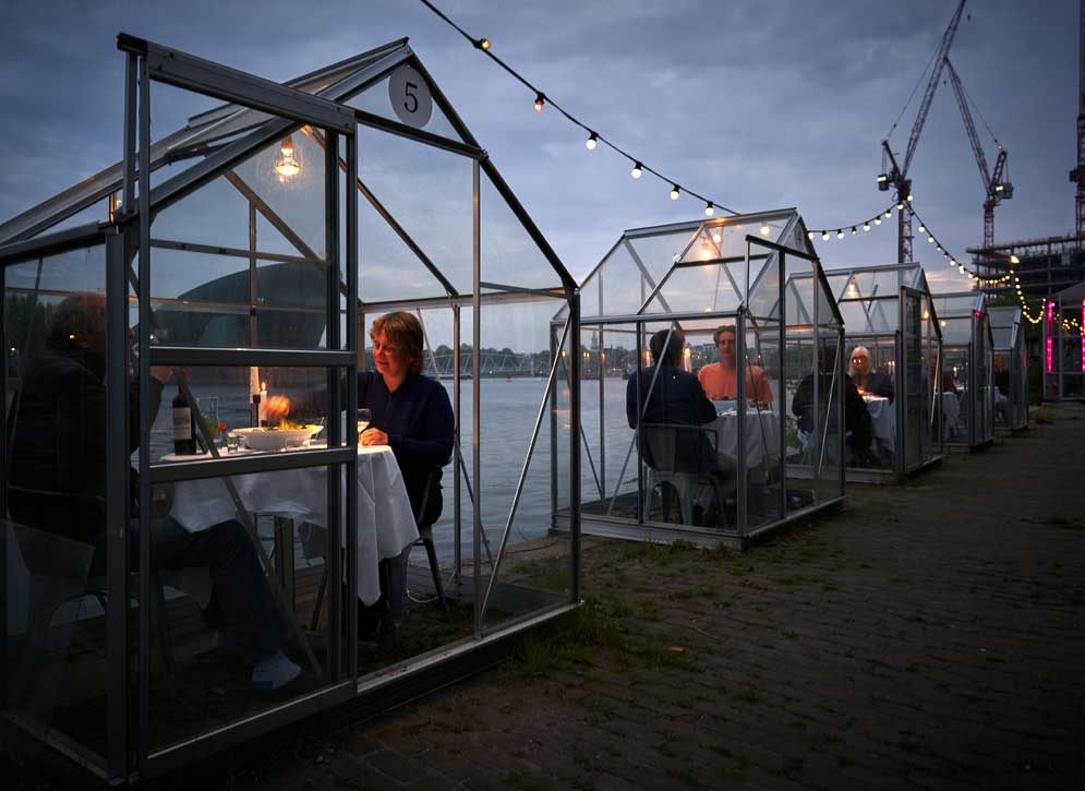 A plant-based restaurant in Amsterdam will serve diners in greenhouses