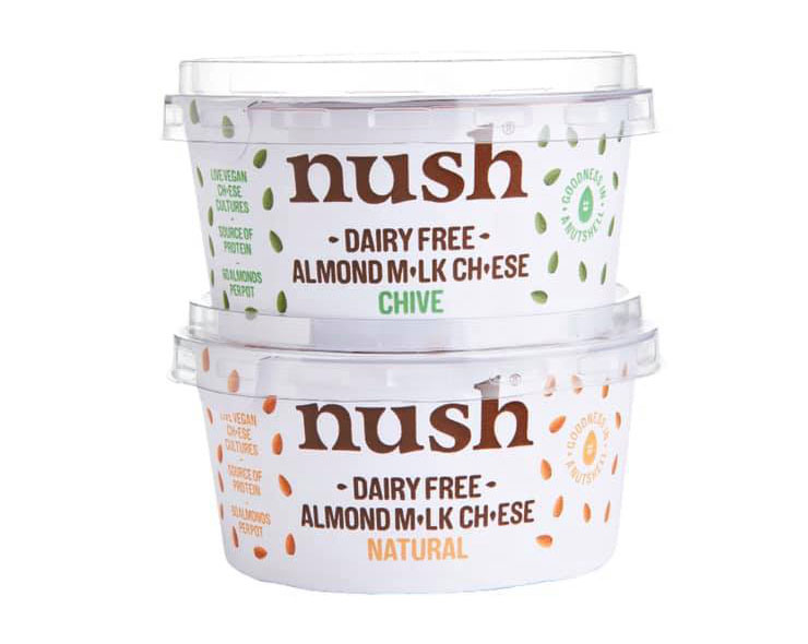 Nush's spreadable vegan cheeses are launching in Sainsbury's and Asda