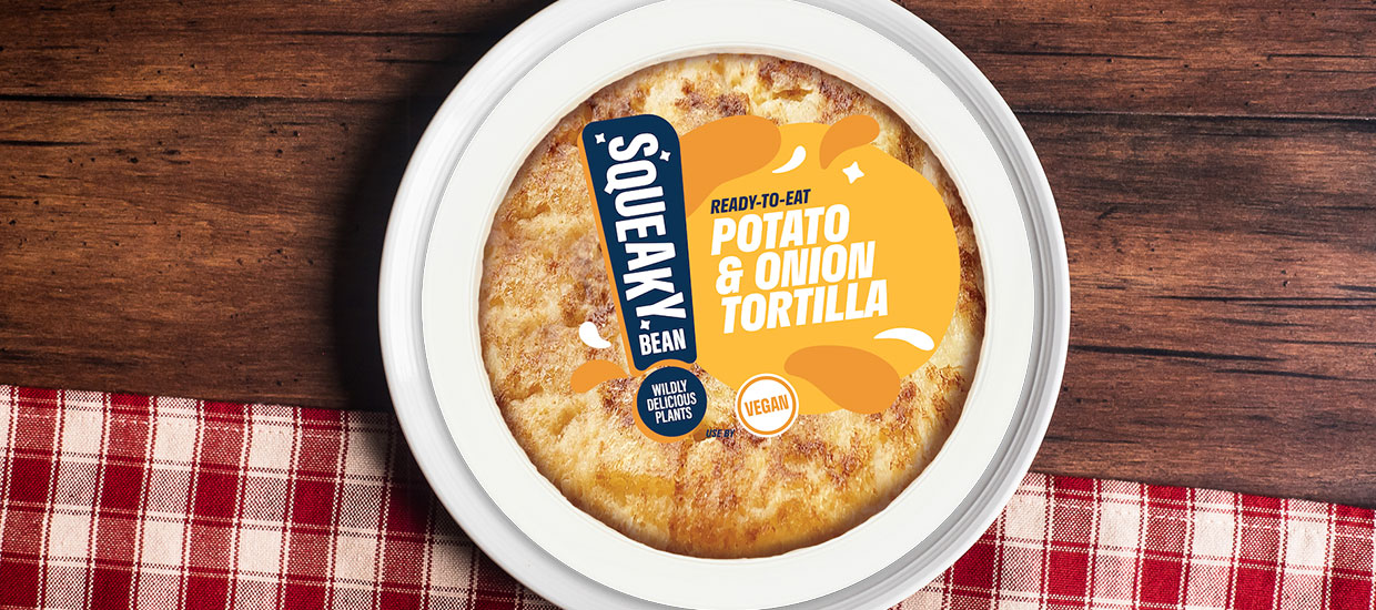 Squeaky Bean launches ready-to-eat vegan Spanish omelette at Sainsbury's